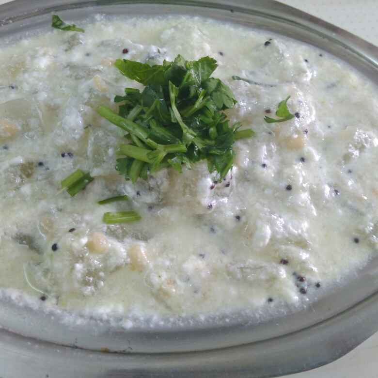 How to make White pumkin raita