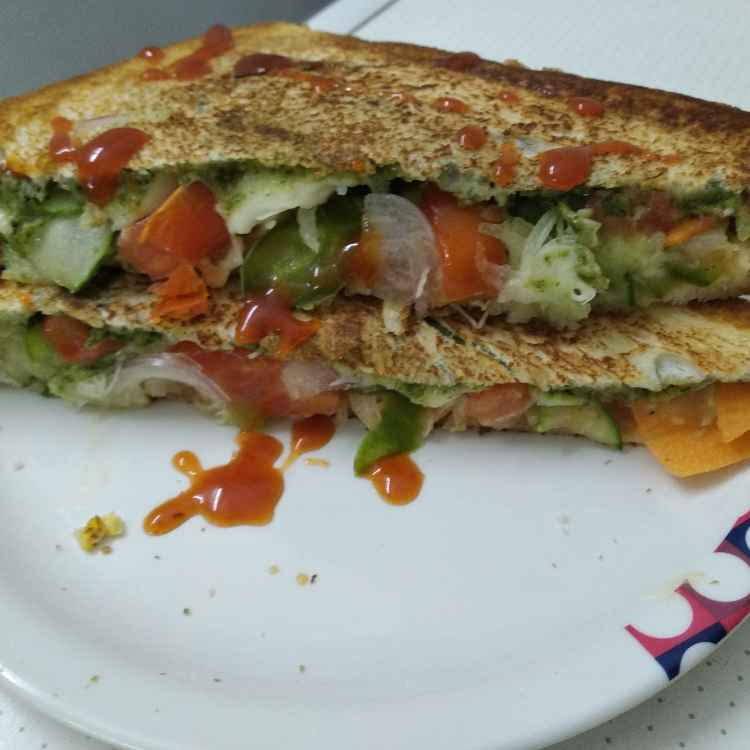 Photo of Double cheese veg sandwich by Kalai vani at BetterButter