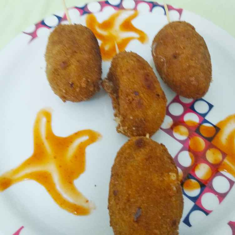 Photo of Crispy potato Pizza cheese nuggets by Kalai vani at BetterButter