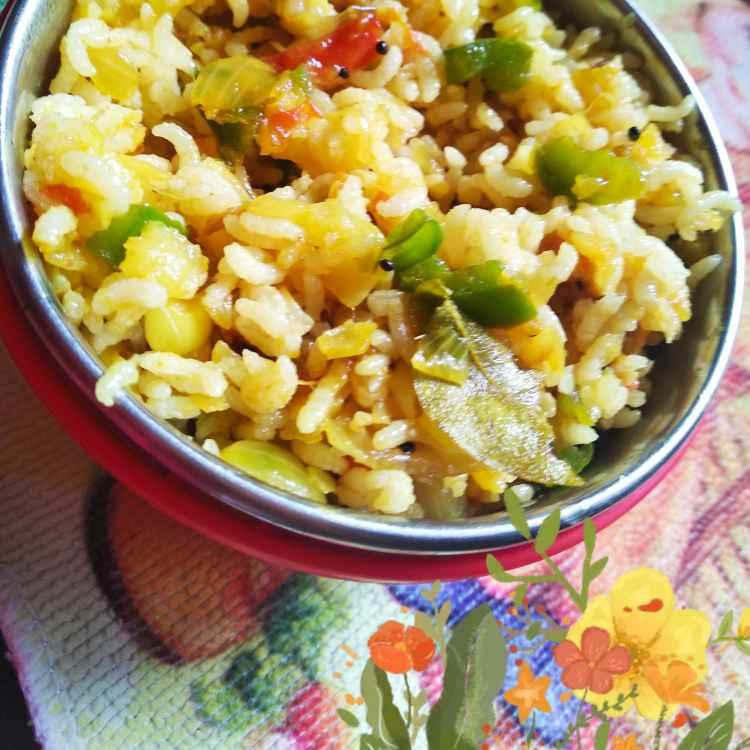 Photo of Potato capsicum rice by Kalai vani at BetterButter