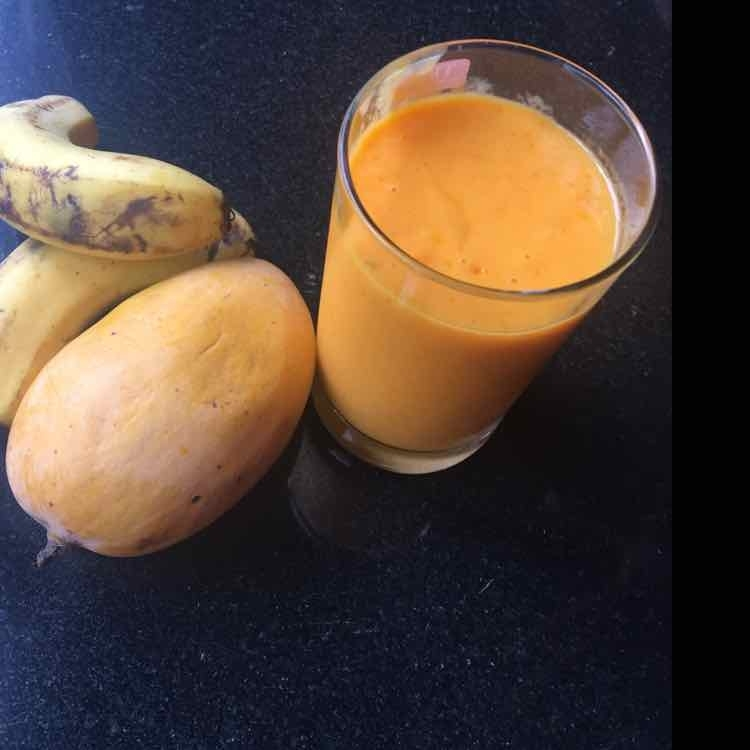 How to make Mango Banana Smoothie