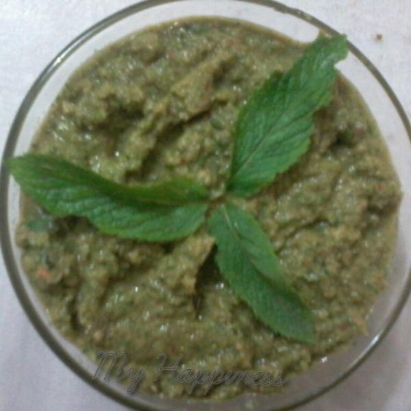 Photo of Mongre ki chutney (Radish pods and mint dip) by Kalpana Vinay at BetterButter
