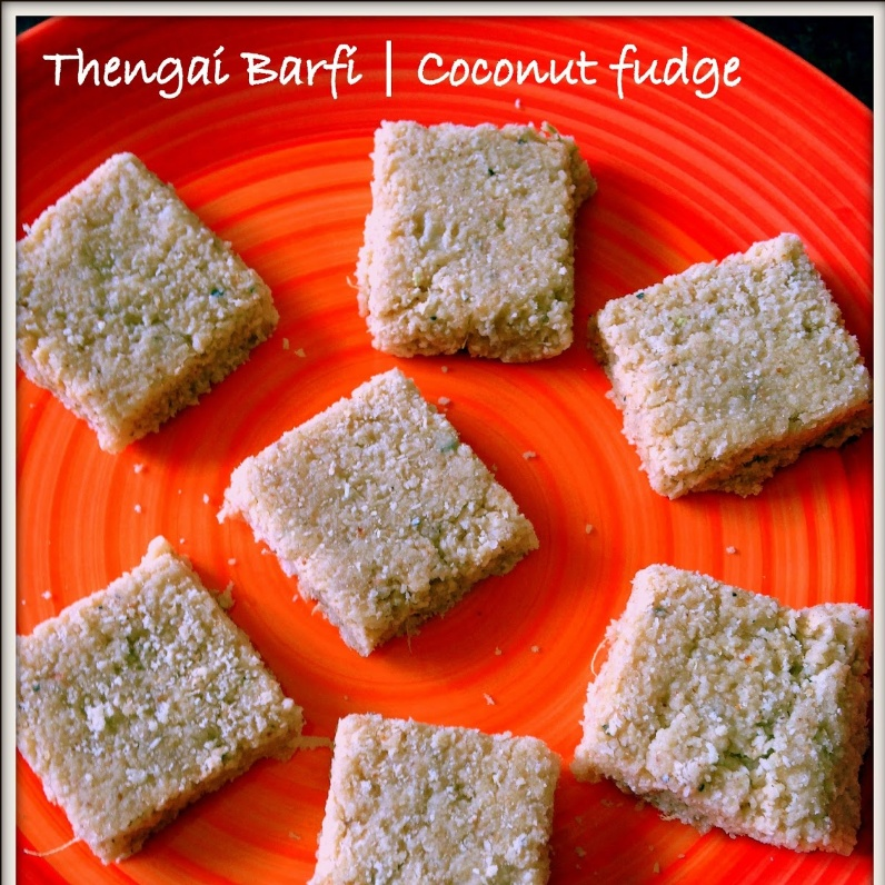 How to make Thengai Barfi - Coconut Fudge