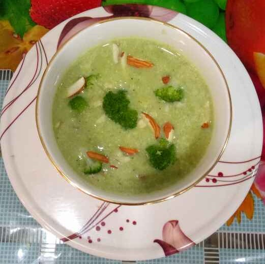 Photo of Broccoli almond soup by Dr.Kamal Thakkar at BetterButter