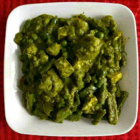 How to make Vegetable hariyali