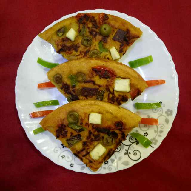 Photo of Moong daal pizza by Dr.Kamal Thakkar at BetterButter