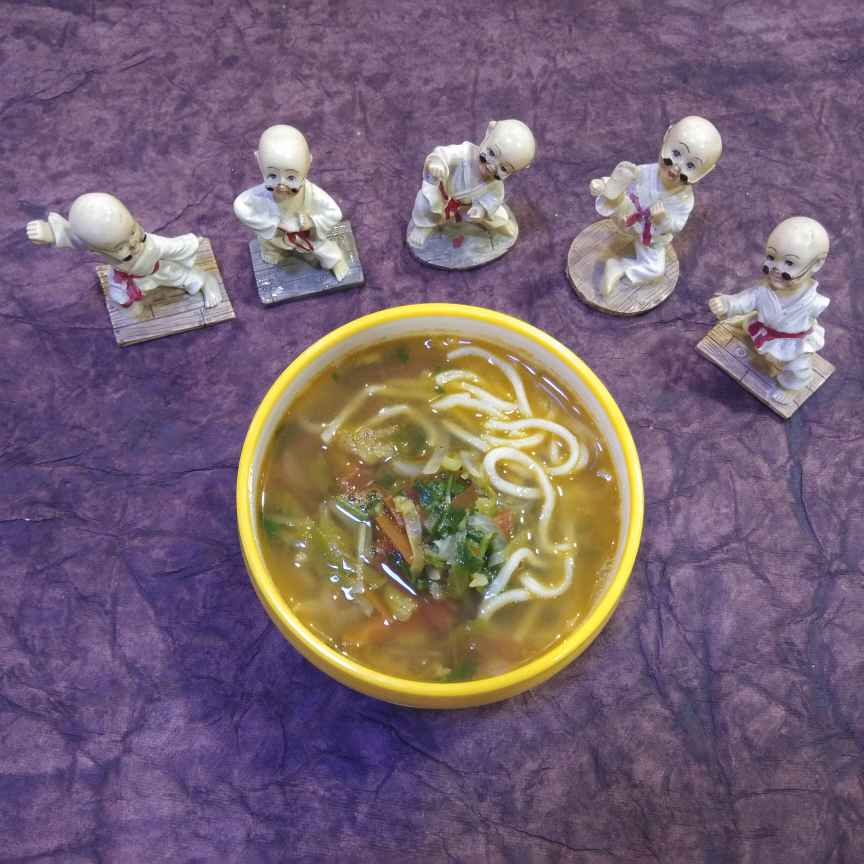 Photo of Thukpa soup(Tibetian noodle soup) by Dr.Kamal Thakkar at BetterButter