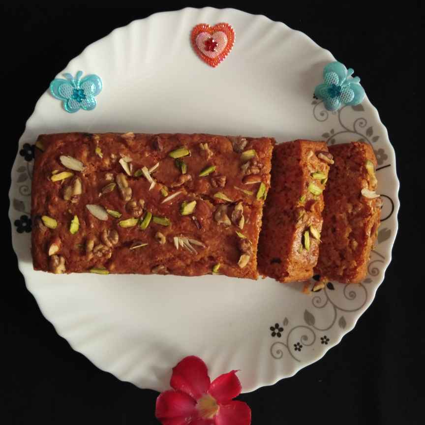 How to make Carrot and nuts cake