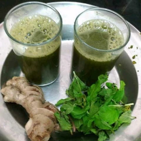 How to make Mint,ginger,lime juice