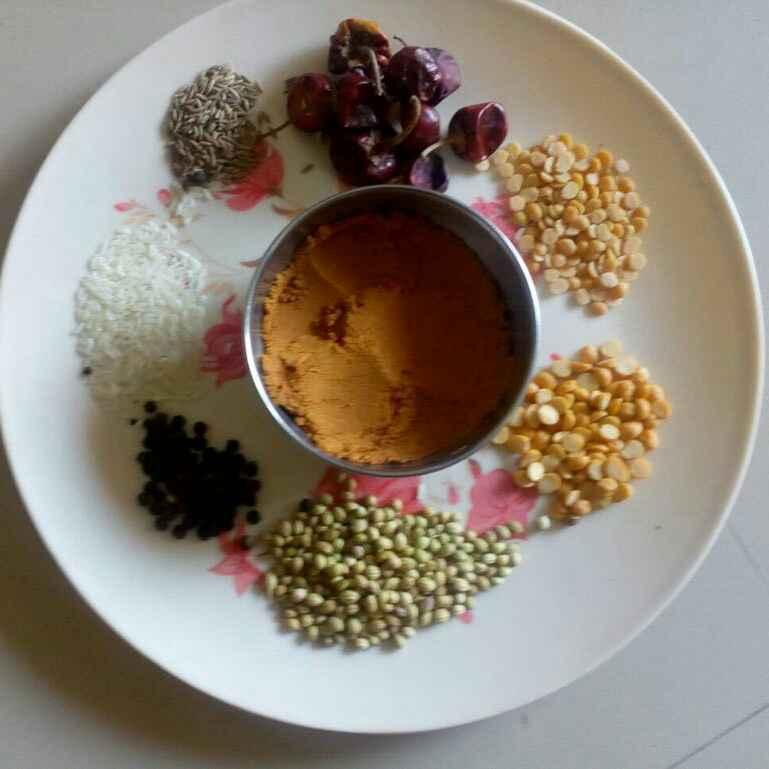 How to make Pulikuzhambu powder