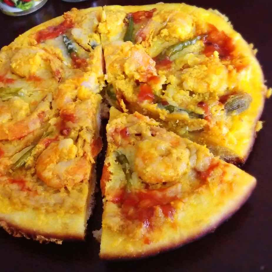 How to make Prawn malaikari pizza