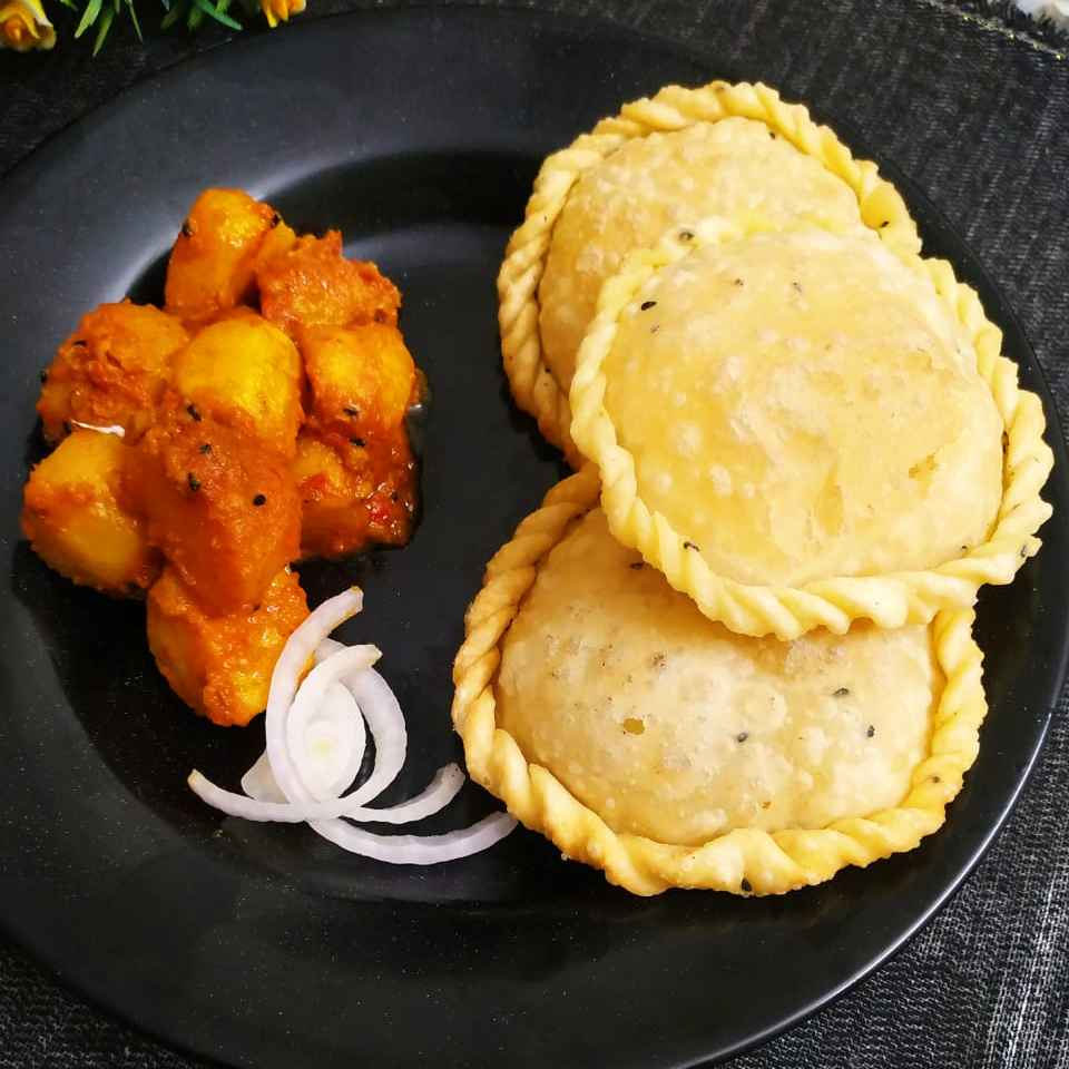 How to make PRAWN kachori