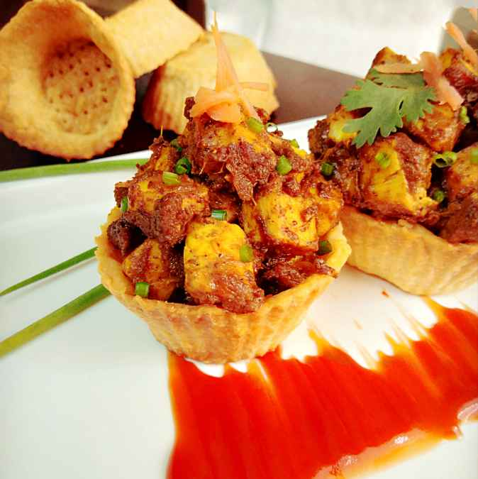 How to make Paneer pepper fry tart