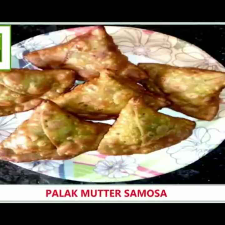 Photo of Spinach Mutter Samosa by kanchan date at BetterButter