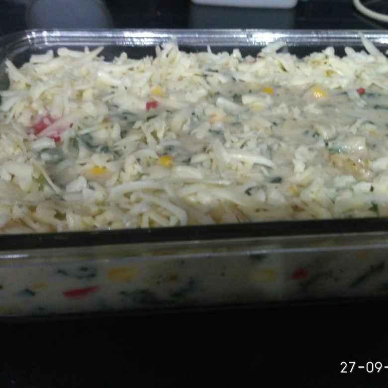 Photo of Palak corn creamy buttery pasta by Kanchan Jain at BetterButter