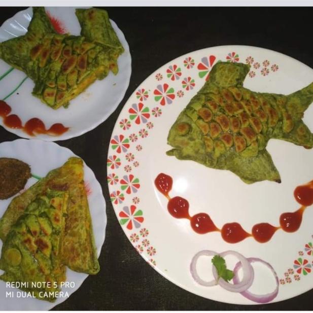 Photo of Mix veg stuff fish fry paratha (for kids ) by Kanchan Sharma at BetterButter