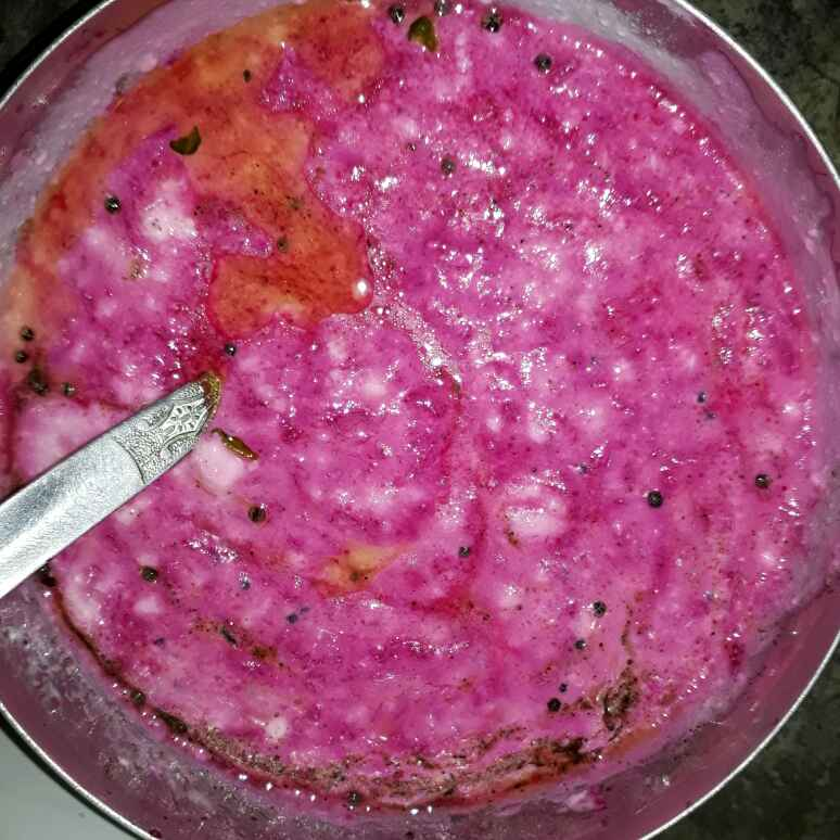 How to make Beetroot pachadi