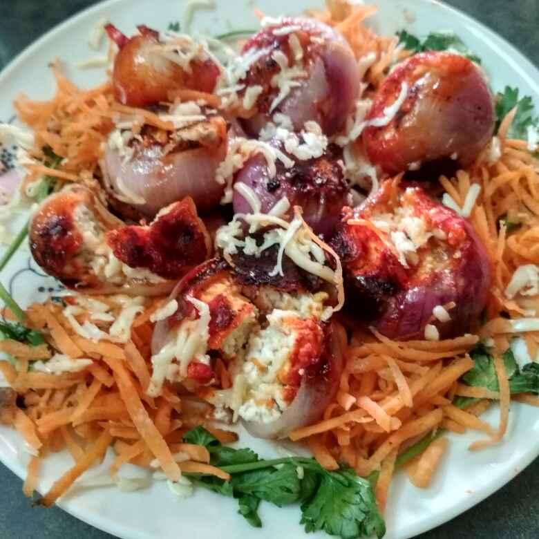 Photo of Stuffed cheesy onion by Kanupriya  at BetterButter