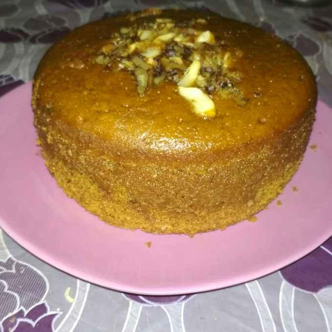 How to make Eggless Coffee & walnut cake
