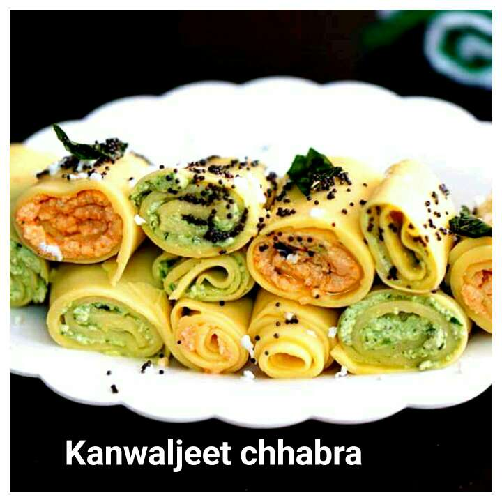 Photo of Paneer (cottage cheese - stuffed) khandvi by Kanwaljeet Chhabra at BetterButter