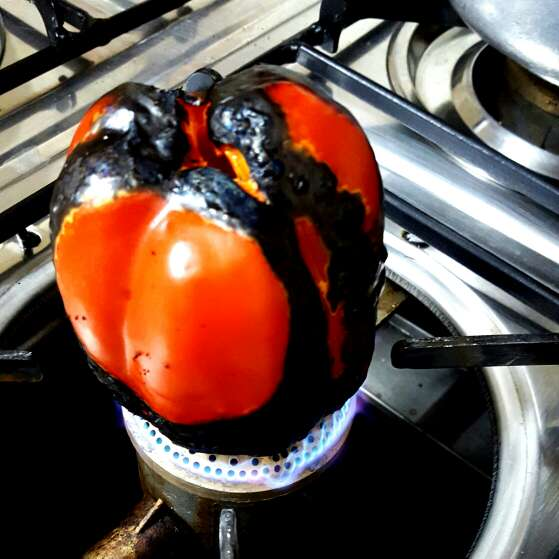 Photo of Roasted red bell pepper dip by Kanwaljeet Chhabra at BetterButter