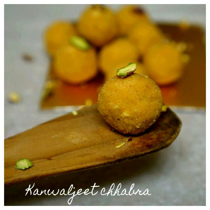 Photo of Besan ladoo by Kanwaljeet Chhabra at BetterButter