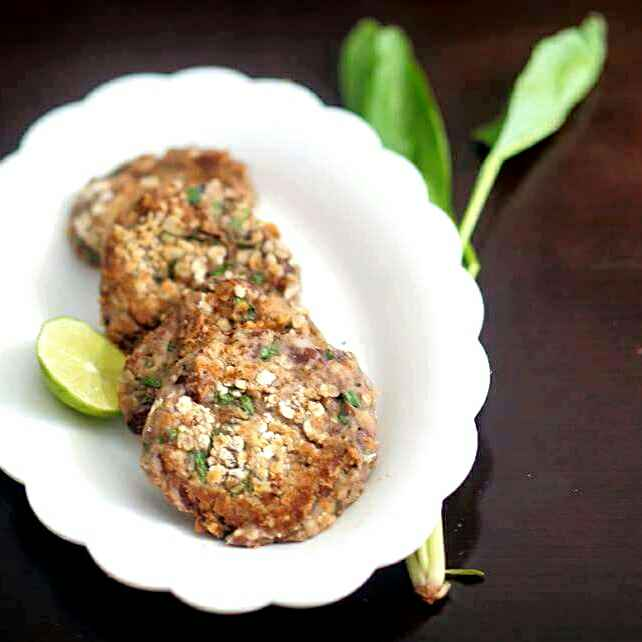 Photo of Spinach Black eyed beans cutlet by Kanwaljeet Chhabra at BetterButter