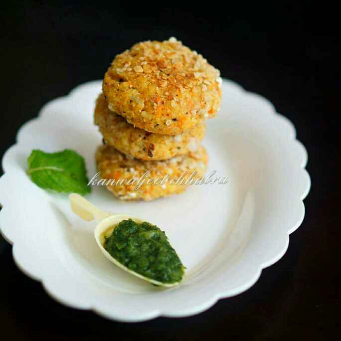 How to make Oats Moong Dal Kebab ( shallow fry recipe )