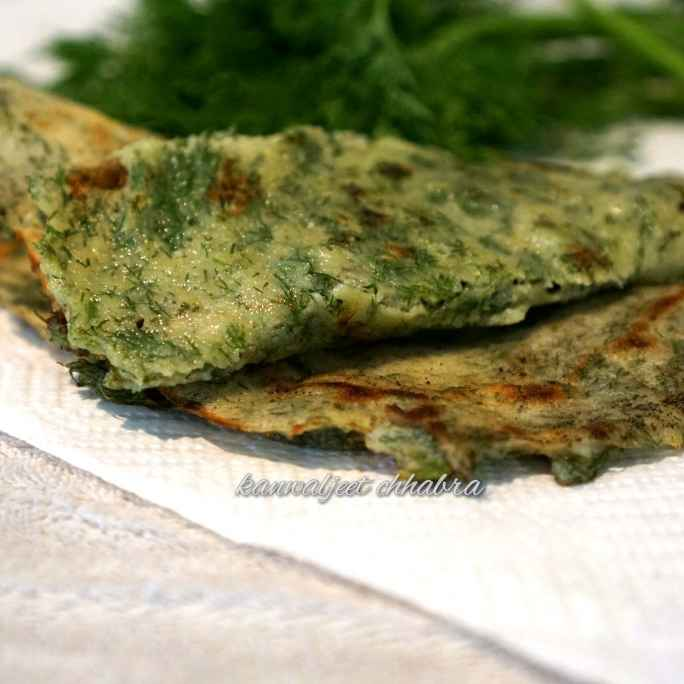 How to make dill leave dosa
