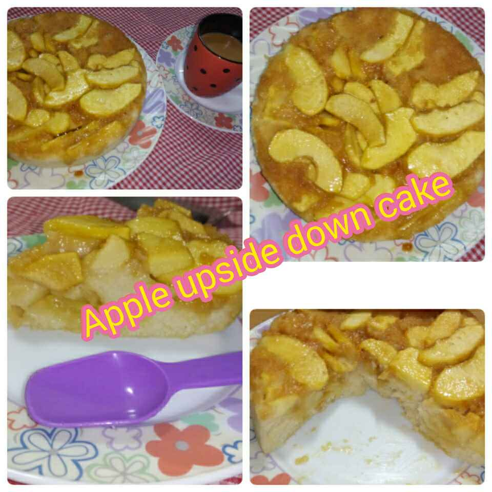How to make Eggless Apple upside Down Cake
