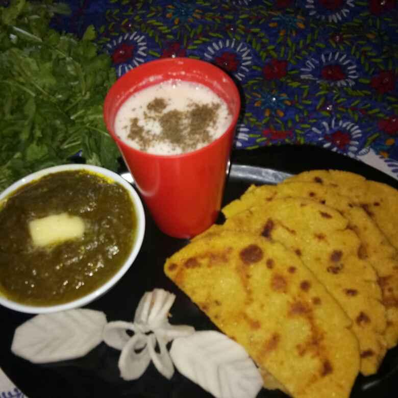 Photo of Sarso ka saag Makki ki Roti(winter thali) by Karmjit Bhatia at BetterButter