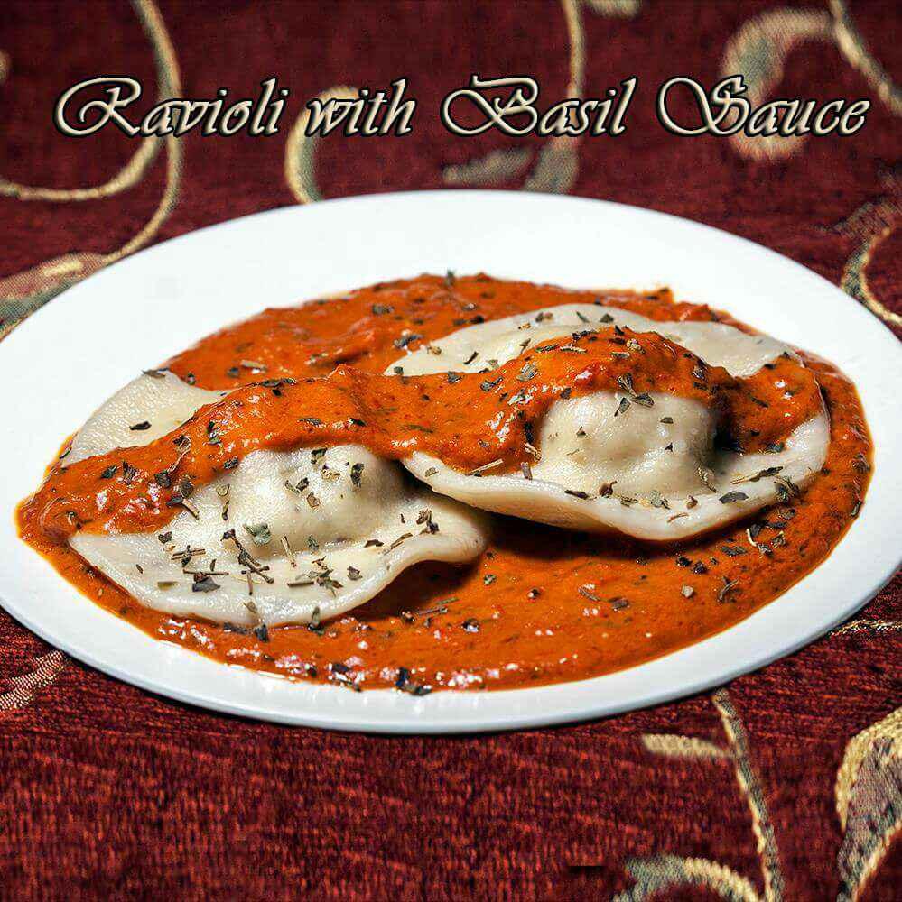 How to make Ravioli with Basil Sauce