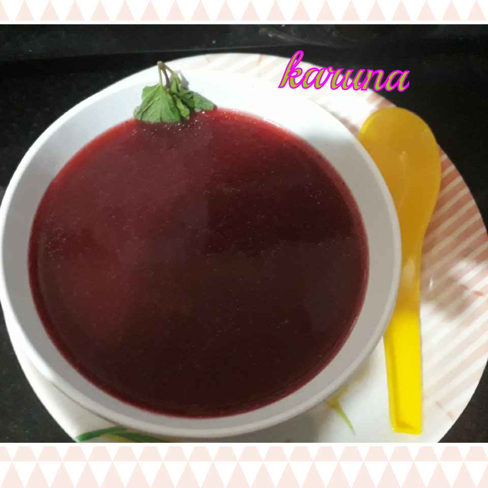 Photo of Beetroot carrots soup by Karuna Chandwani at BetterButter