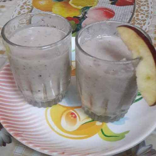 How to make Apple banana shake