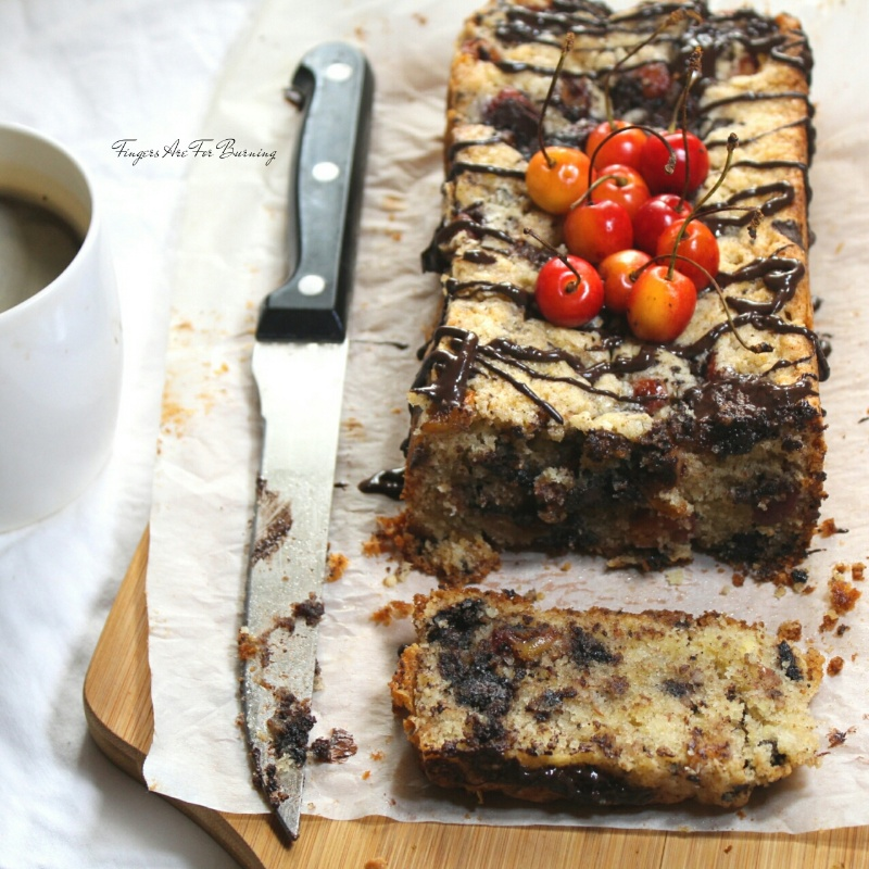 How to make Cherry Chocolate and Almond Loaf