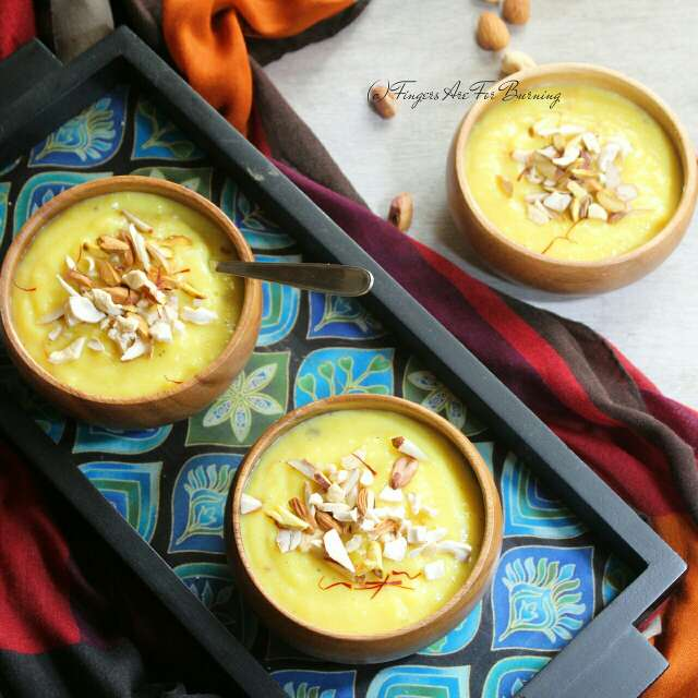 Photo of Kesar Phirni by Karuna Kumar at BetterButter