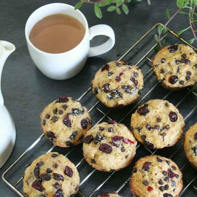 How to make Orange Chocolate and Cranberry Muffins