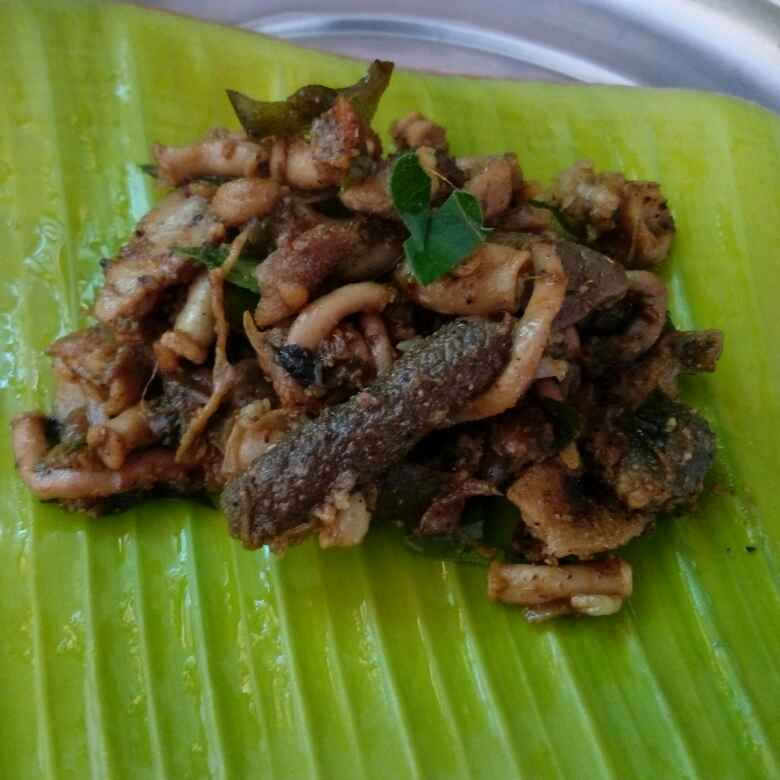 How to make Goat intestine Pepperfry(street food style)
