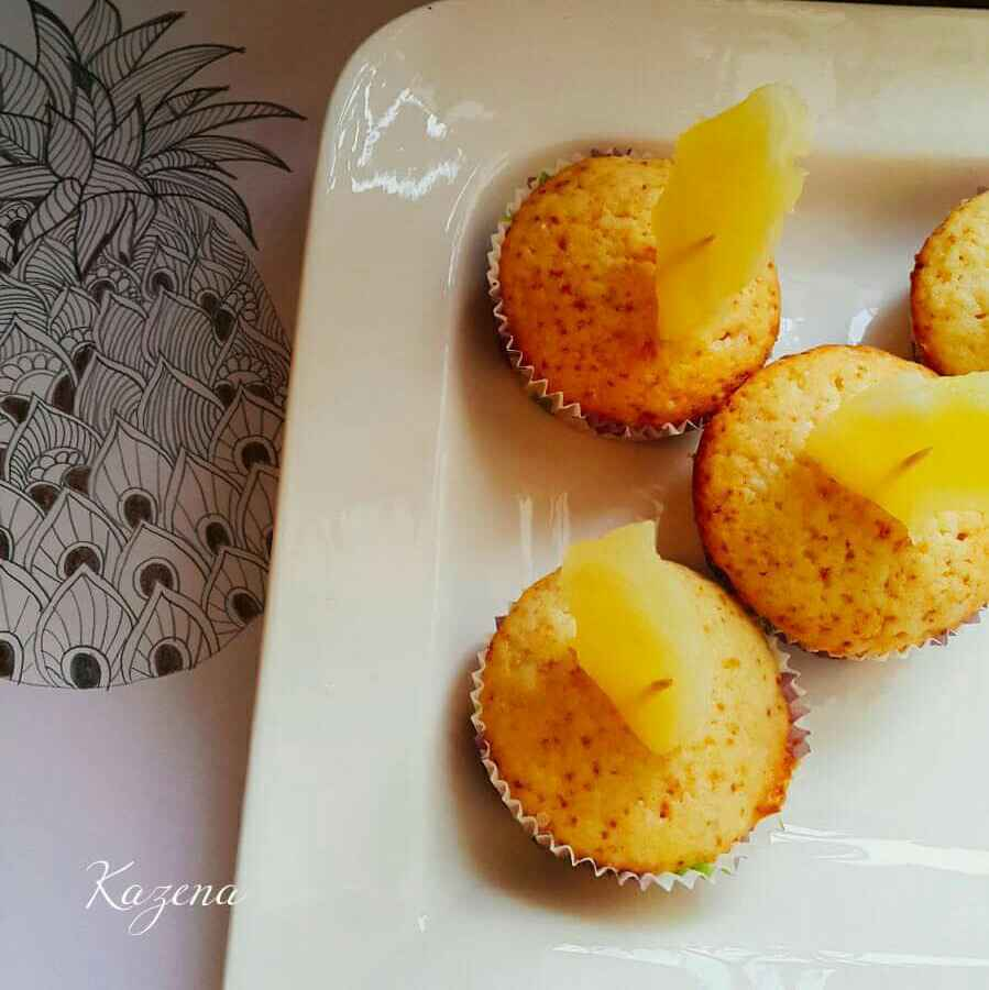 Photo of Pineapple cup cake by Kathija Lathif at BetterButter