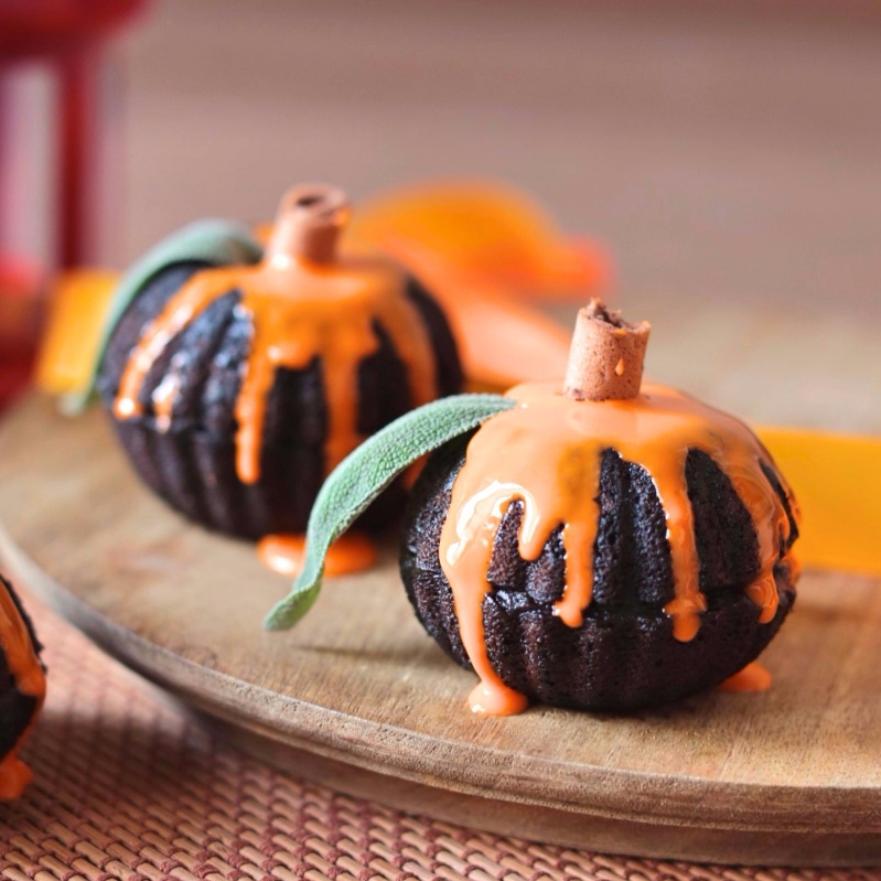 Photo of Chocolate pumpkin mini cakes by Kaveri Obhan at BetterButter