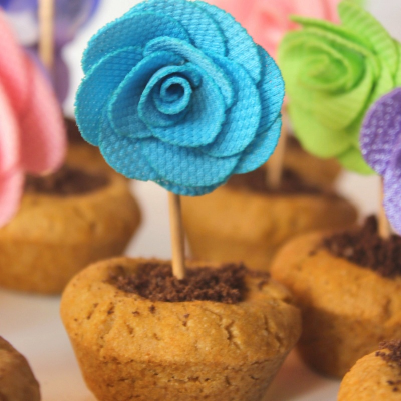 How to make Flower pot cookies