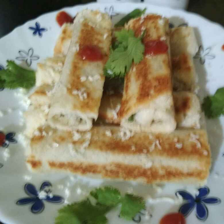 How to make Paneer  bread roll