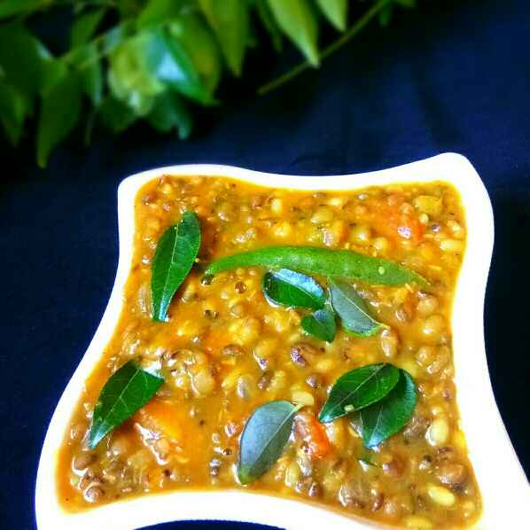 How to make Moong Dal Gravy-Whole Green Gram Dhal Curry