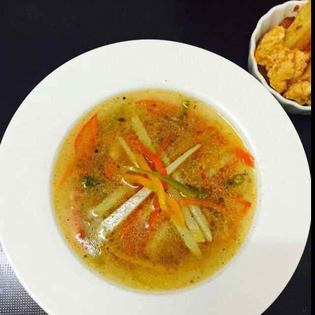 Photo of Potato Bell Pepper Clear Soup by Kavitha Santhosh at BetterButter
