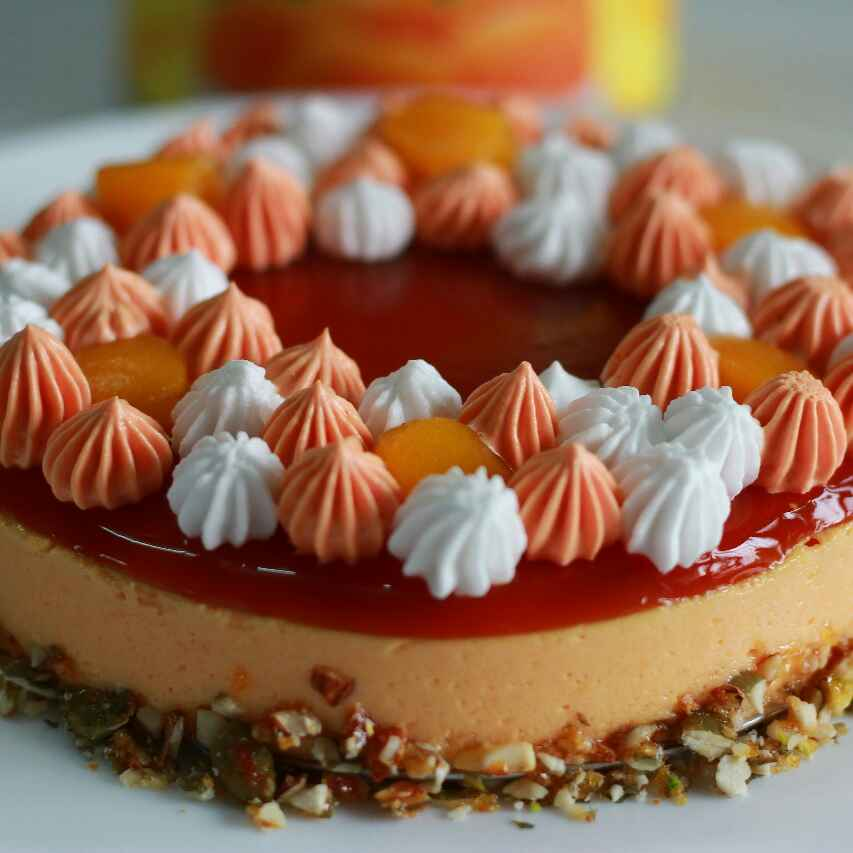 Photo of Peach Tea Mousse. by Kavya Narang at BetterButter