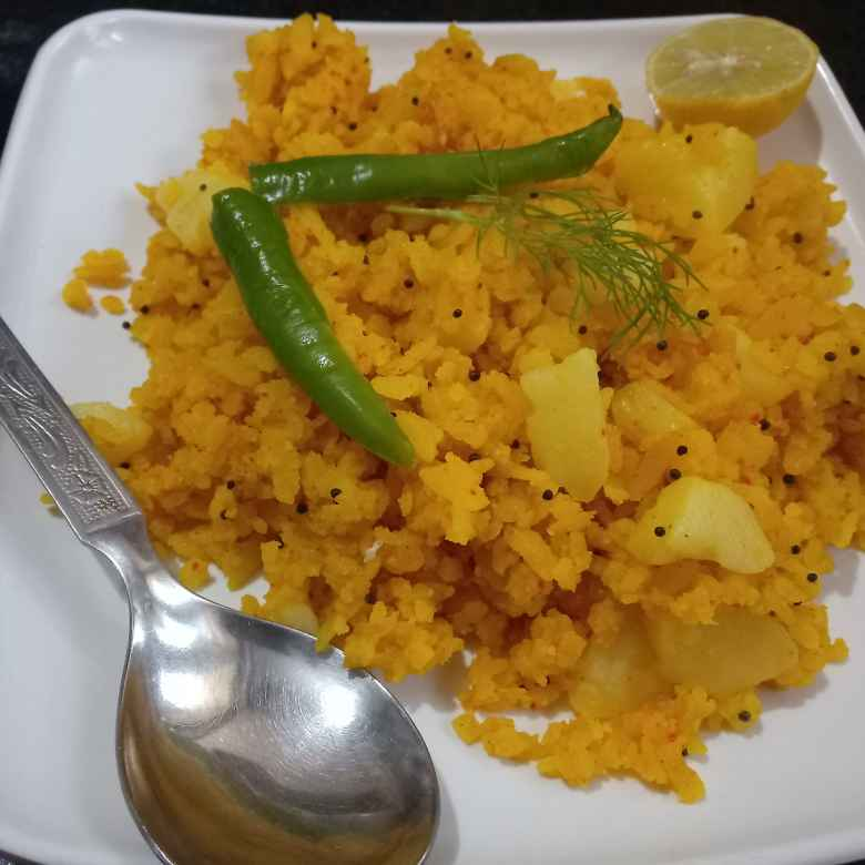 Photo of Aloo poha by Keertika Tewatia at BetterButter