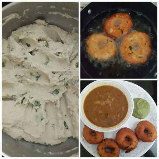 How to make Medu wada with grated coconut
