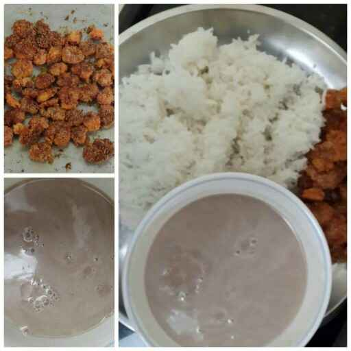 How to make Solkadi with steamed rice & Prawns fry