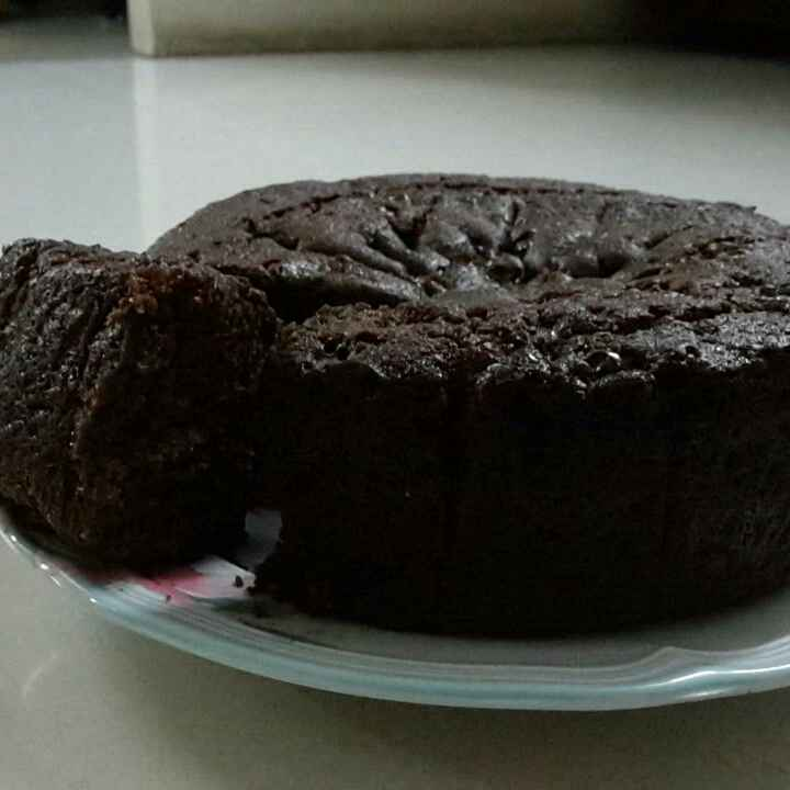 How to make Egg less dark chocolate spongy cake.