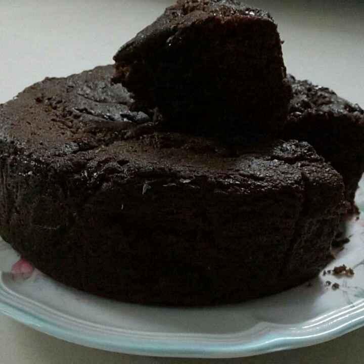 How to make Egg less dark chocolate spongy cake.